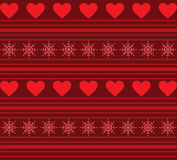 Hearts And Stripes Background Royalty Free Stock Images
