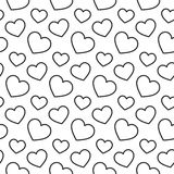 Hearts stripped geometric seamless pattern Royalty Free Stock Photos