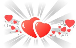 Hearts and strips Stock Images