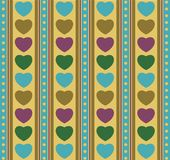 Hearts and strips Royalty Free Stock Image