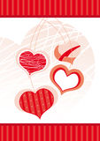 Hearts. Stylized red hearts on a white background royalty free illustration