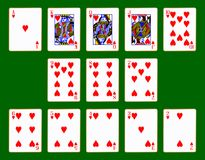 Hearts Suit Of Cards. The playing card in the suit of Hearts Stock Image