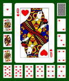 Hearts suit playing cards Royalty Free Stock Photos
