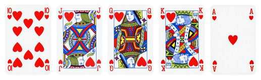 Hearts Suit Playing Cards stock photo