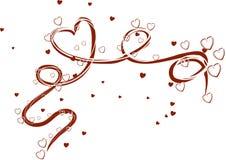 Hearts_swirl Arkivbild