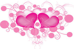 Hearts and swirls Royalty Free Stock Photography