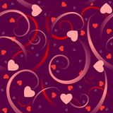 Hearts and swirls Stock Photo