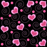 Hearts and swirls Stock Image