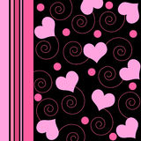 Hearts and swirls Royalty Free Stock Photo