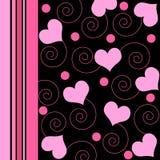 Hearts and swirls Royalty Free Stock Photo