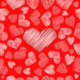 Hearts symbol  hatching  pattern  seamless Stock Photography