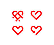 Hearts symbol Royalty Free Stock Image