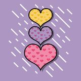 Hearts symbol of love and passion design. Vector illustration Stock Images
