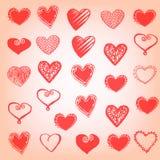 Hearts symbols Stock Photography