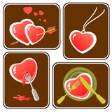 Hearts symbols set Royalty Free Stock Image