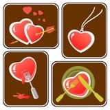 Hearts symbols set royalty free stock image