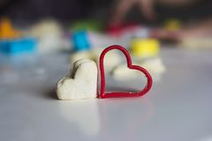 Hearts on the table Stock Photography