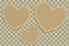 Hearts tartan background Royalty Free Stock Image