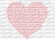 Hearts and text Stock Photo