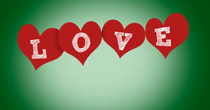 Hearts with text Stock Images