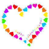 Hearts and text valentine`s day Stock Photography
