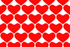 Hearts texture Stock Images
