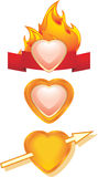 Hearts. Three icons for design Royalty Free Stock Photography