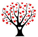 Hearts tree. Cartoon illustration. Isolated on white Royalty Free Stock Photography