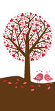 Hearts tree background - valentine theme