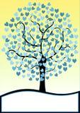 Hearts tree invitation card Stock Photo