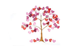 Hearts tree isolated in white Stock Images