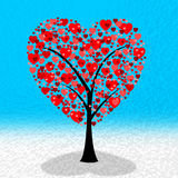 Hearts Tree Shows Valentines Day And Affection Stock Photo