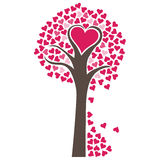 Hearts Tree Vector. Illustration of a tree made out of hearts Royalty Free Stock Images