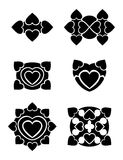 Hearts tribal tattoo Royalty Free Stock Photos