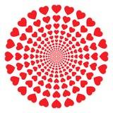 Hearts tube Royalty Free Stock Photos