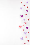 Hearts on Tulle-ing Border Stock Image