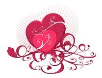 hearts two Στοκ Εικόνες