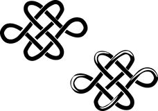 Hearts. Two connected hearts - celtic ornament Stock Photos