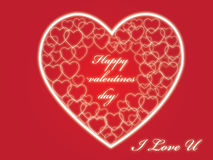 Hearts And Valentin`s Day. Background Royalty Free Stock Photos