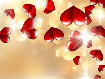 Hearts And Valentin`s Day Card. EPS10 Royalty Free Stock Photos