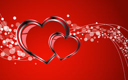 2 Hearts And Valentin`s Day. Clip-art Stock Image