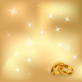 Hearts And Valentin`s Day gold background Vector Illustration. Eps10 Royalty Free Stock Image