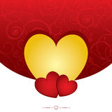 Hearts Valentine Background Stock Photography