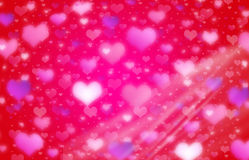 Hearts Valentine Background blurry lights. Valentine's Day Hearts blurry light background Royalty Free Stock Image