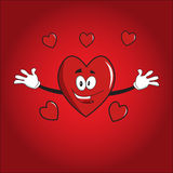 Hearts valentine cartoon Stock Image