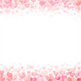 Hearts valentine day background Stock Photos