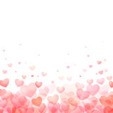Hearts valentine day background Royalty Free Stock Image