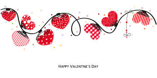 Hearts valentine day doodle hearts Border design vector background Royalty Free Stock Photos
