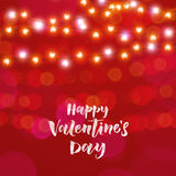 Hearts valentine garland glitter pattern background Stock Images