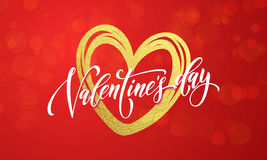 Hearts valentine garland glitter pattern background Royalty Free Stock Images